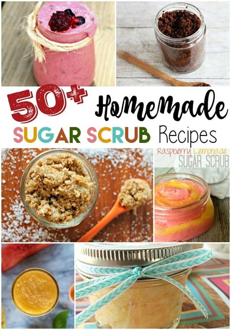 over 50 sugar scrub recipes for dry skin and gifting