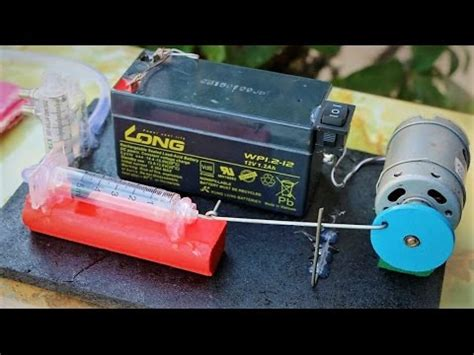 how to make a powerful air compressor using syringe