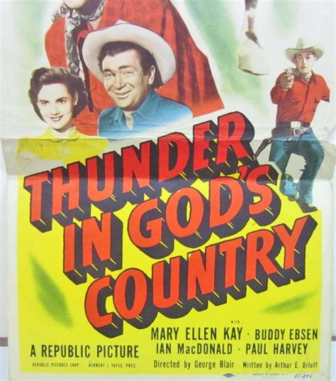 thunder in god country 1951 full movie 1951 quot thunder in god s country quot wester insert movie poster