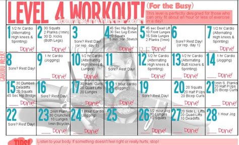 work out plans for home level four exercise plan fitness pinterest ruins