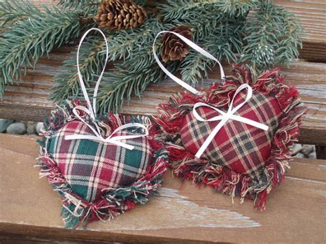 items similar to fabric heart ornament country christmas
