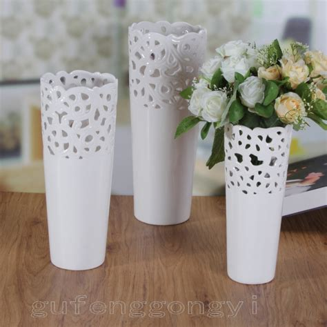 Modern Vase And Gift Coupon Code Fashion Brief Modern Fashion Cutout White Ceramic Vase