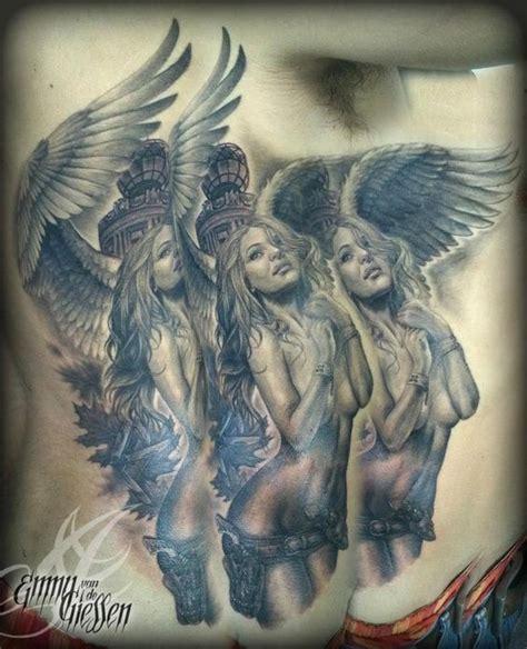 tattoo angel pin up emmy van de giessen angel pin up girl tattoo religious