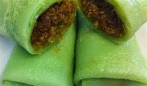 resep  membuat dadar gulung enten durian