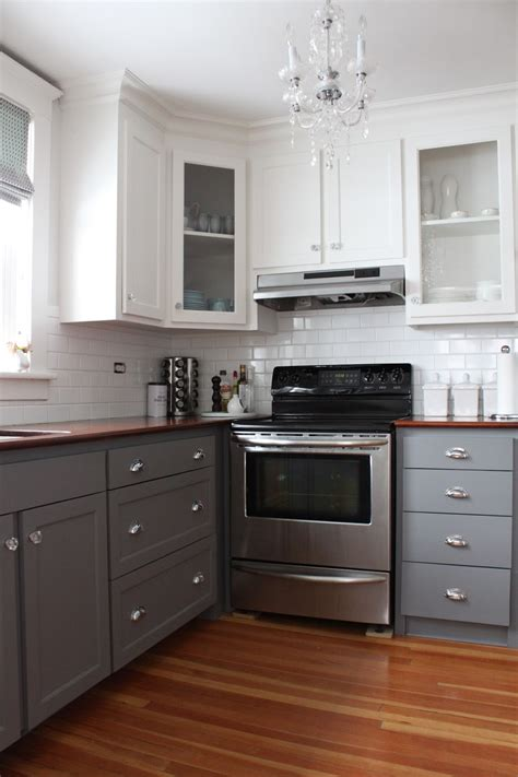 two tone painted kitchen cabinets modern two tone cabinets reveal