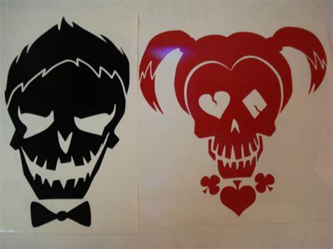 joker tattoo tutorial large joker harley quinn suicide squad skull by