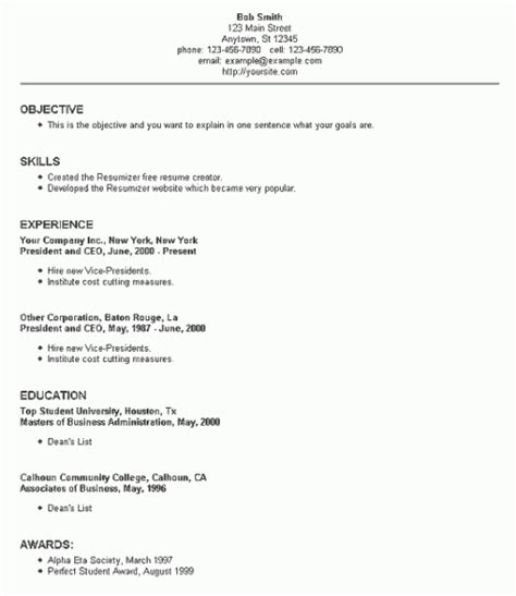 resume setup exles resume setup the best resume