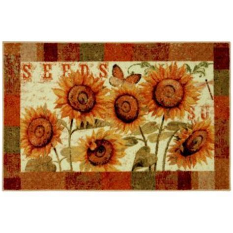 Sunflower Kitchen Rugs Sunflower Kitchen Rug For The Home