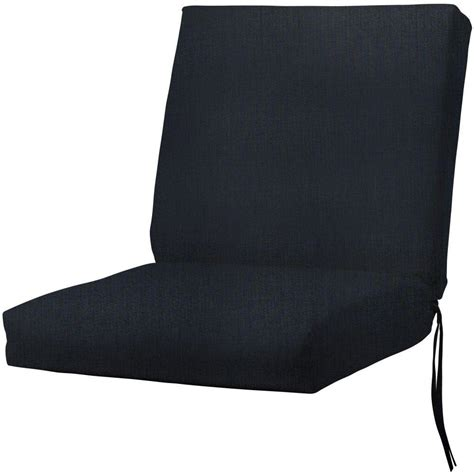 Navy Dining Room Chair Cushions Home Decorators Collection Sunbrella Canvas Navy Outdoor
