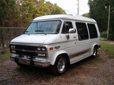 how to fix cars 1992 chevrolet sportvan g20 transmission control find used 1992 chevrolet g20 high top explorer conversion van leather low miles 5 7 v 8 in