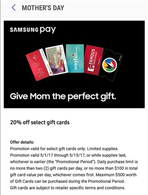 Where To Buy Overstock Gift Cards - samsung pay 20 off many gift cards kohl s overstock gap domino s more ebay