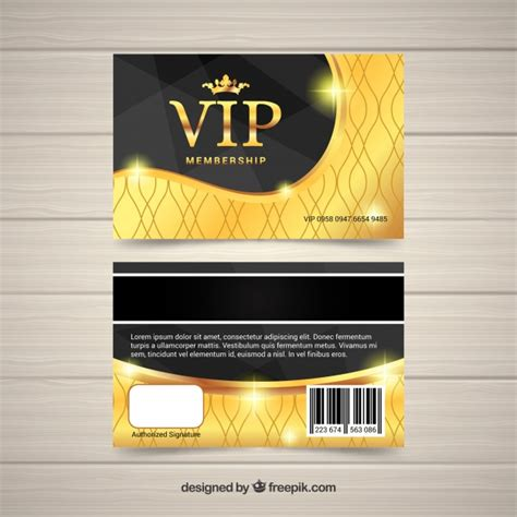 Card Vip Design vip card with golden design vector free
