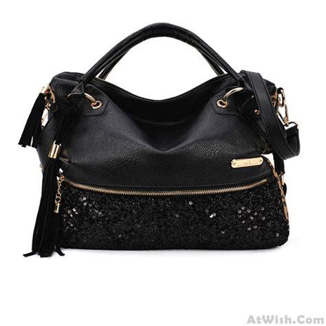 Sequined Handbag tassels sequined leopard handbag shoulder bag fashion