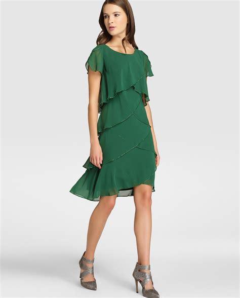 el corte ingles a vestido de mujer fiesta el corte ingl 233 s con capas en color