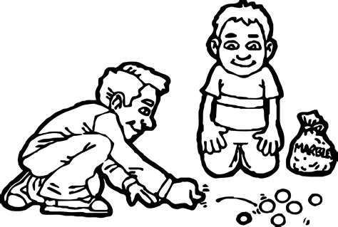 marbles coloring pages