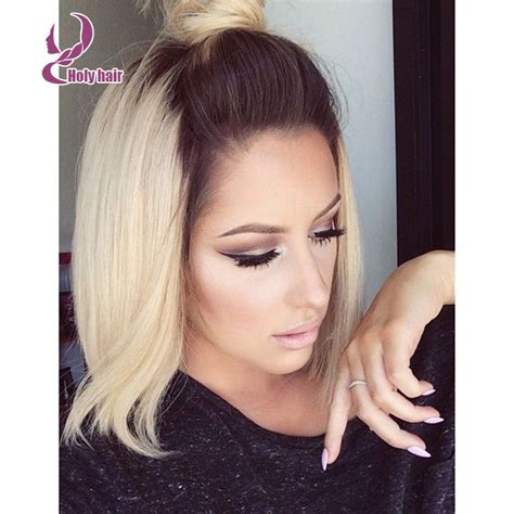 blonde bobs with dark roots dark roots blonde hair bobs styles 8a unprocessed human