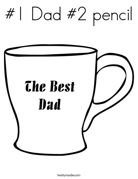 number 1 dad pages coloring pages