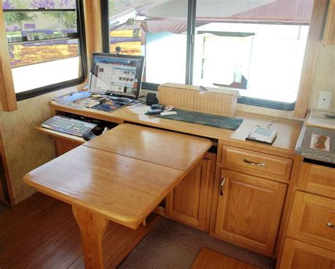 replacing kitchen desk with cabinets dining table desk combo rv dining table cabinet desk