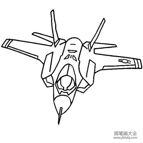 F 16 Coloring Pages by 战斗机简笔画大全 闪电ii 飞机简笔画 简笔画大全