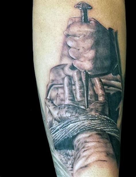 jesus hand tattoo 100 christian tattoos for manly spiritual designs
