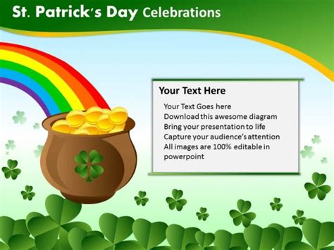Powerpoint Template Chart Patricks Day Celebrations Ppt Slides St S Day Powerpoint Templates