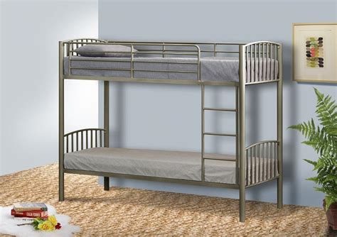 Small Single Bunk Beds Metal Small Single Bunk Bed In 2ft6 Bunk Metal Frame White Black Silver Ebay