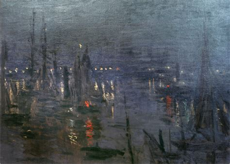 nacht le harbour of le havre at posters by claude monet