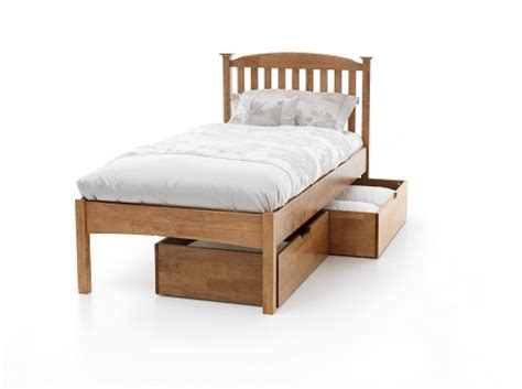 Low Single Bed Frame Serene Eleanor 3ft Single Oak Wooden Bed Frame With Low Footend By Serene Furnishings
