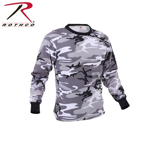 Army Camouflage T Shirt Pull rothco sleeve camo t shirt