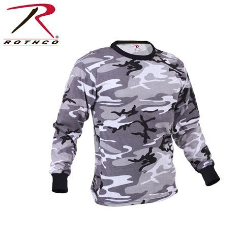 Army T Shirt Pull rothco sleeve camo t shirt