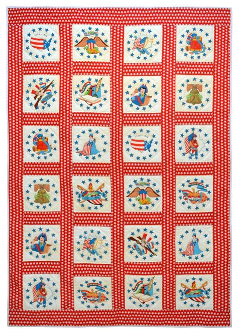 Painted Quilt Squares by Wonkyworld Painted Bicentennial Quilt