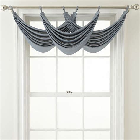 jcpenney royal velvet ally tab top waterfall valance