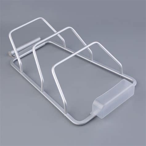 cabinet door lid rack new aluminum kitchen cabinet door pot pan lid holder space