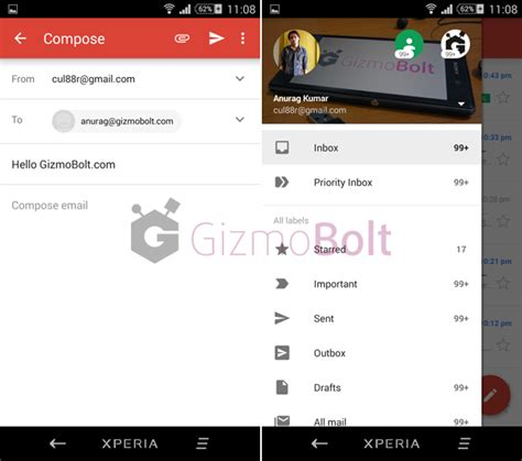 gmail update apk gmail 5 0 with exchange support for all android devices from play store