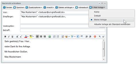 groupware  mail vorlagen rechenzentrum universitaet