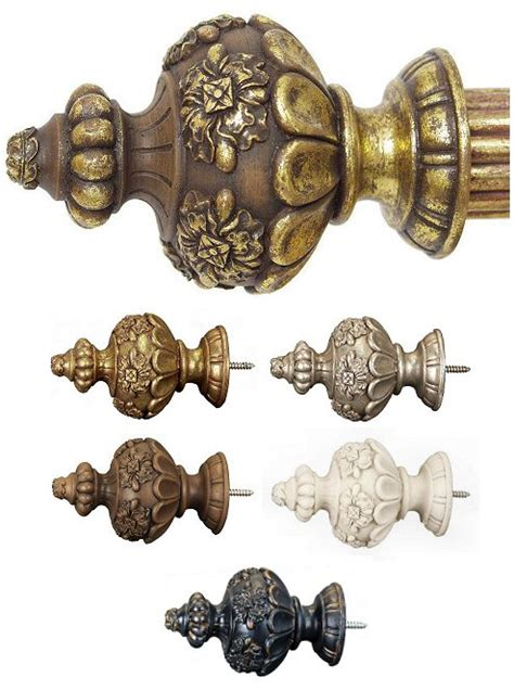 drapery finials passage menagerie 1 3 8 quot constable drapery finial