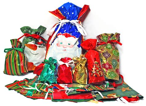 christmas gufts for desk mates giftmate 10 pc holographic drawstring gift bags 4 xlg 3 large 3 medium