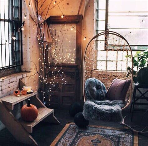 vintage design home instagram autumn cozy fairylights fall interior image 4872722