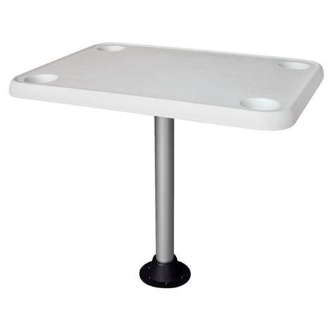 pontoon boat tables wise seating rectangular pontoon table pedestal west