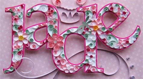 quilling names tutorial quilled jade names quilling and jade