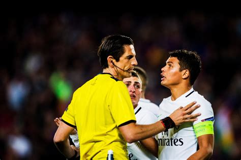 barcelona referee barcelona vs psg referee to be demoted after decisions in