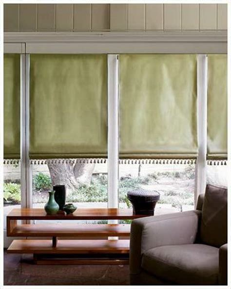 inside mount curtains flat fold fabric roman shade with beaded embellishment at