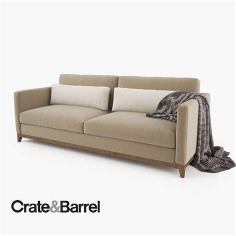 crate and barrel taraval sofa crate and barrel taraval 2 seat sofa 3d model max obj fbx