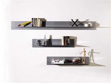 porta mensole in acciaio mensola da parete moderna in acciaio 100 cm linea