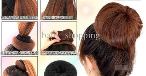 donut packing with braids hair bun ring donut hair styling maker tool hair roller 3