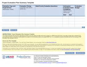 design evaluation template resources project starter usaid