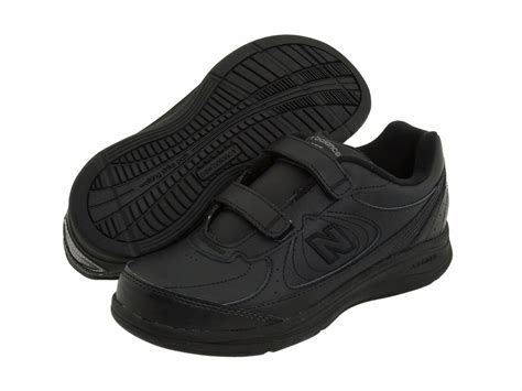 womens velcro athletic shoes new balance womens ww577 black walking velcro shoes