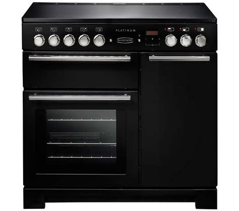 induction cooker rangemaster buy rangemaster platinum 90 electric induction range cooker black chrome free delivery
