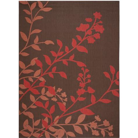 8 ft outdoor rug safavieh courtyard chocolate 8 ft x 11 ft indoor outdoor area rug cy7019 303 8 the home