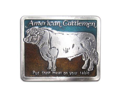 Quot American Cattlemen Quot Heavy Cast Epoxy Inlay Buckle Eb2223